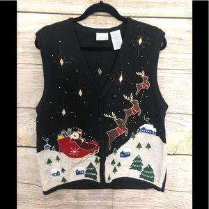 Vintage Ugly Christmas Vest XL